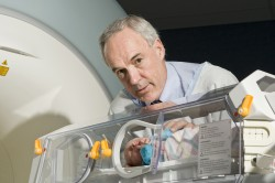Butterfly Babies_Paul with Baby in MRI Incubator 1
